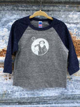 Toddler Grey/Navy Captain Doug Baseball Tee