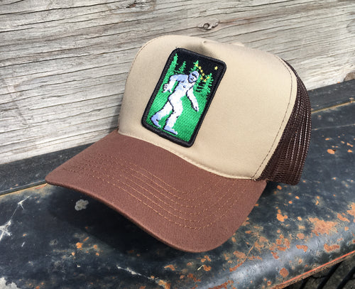 Tan/Brown Foam Trucker Yeti Hat