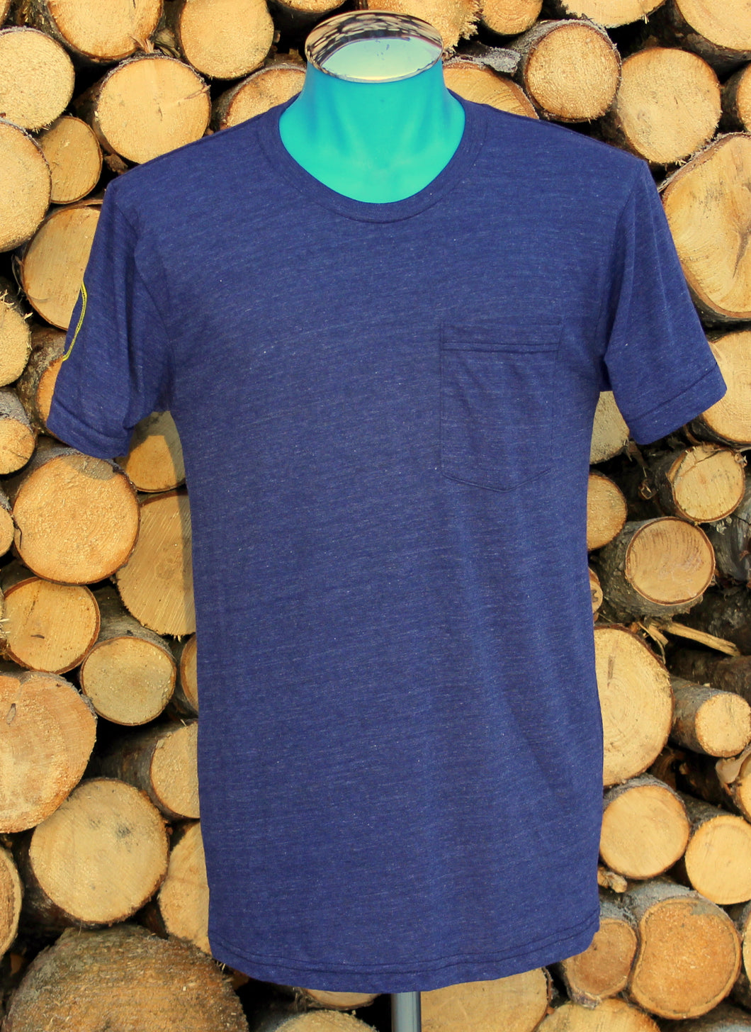 Unisex Indigo AK Hand Map Pocket Tee