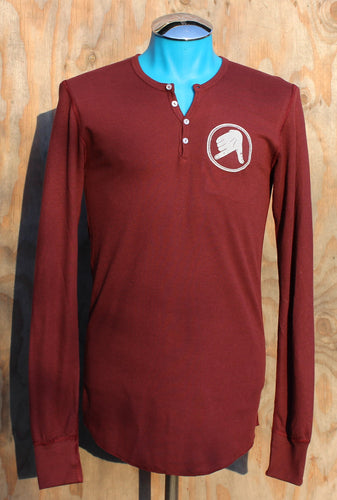 Maroon AK Hand Map Henley(Thermal)