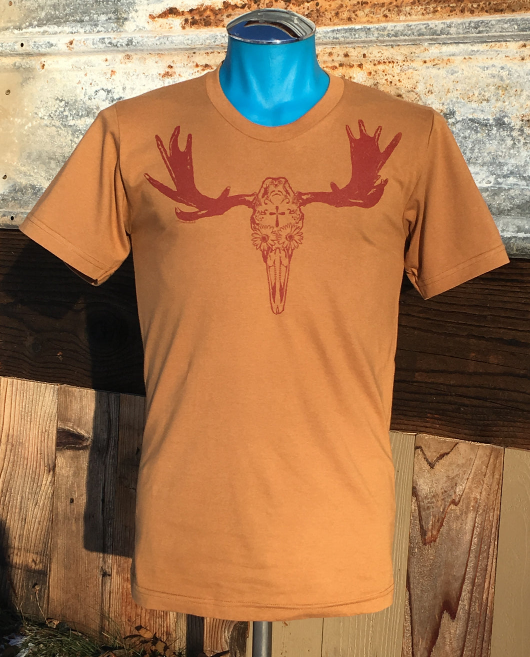 Unisex Tan Day of the Dead Moose Tee