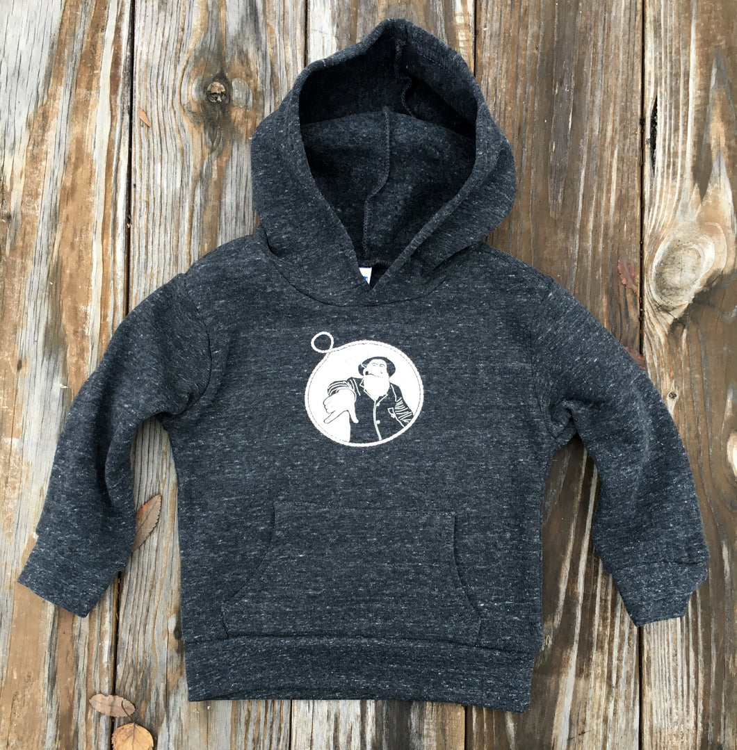 Toddler Charcoal Captain Doug Pullover Hoodie
