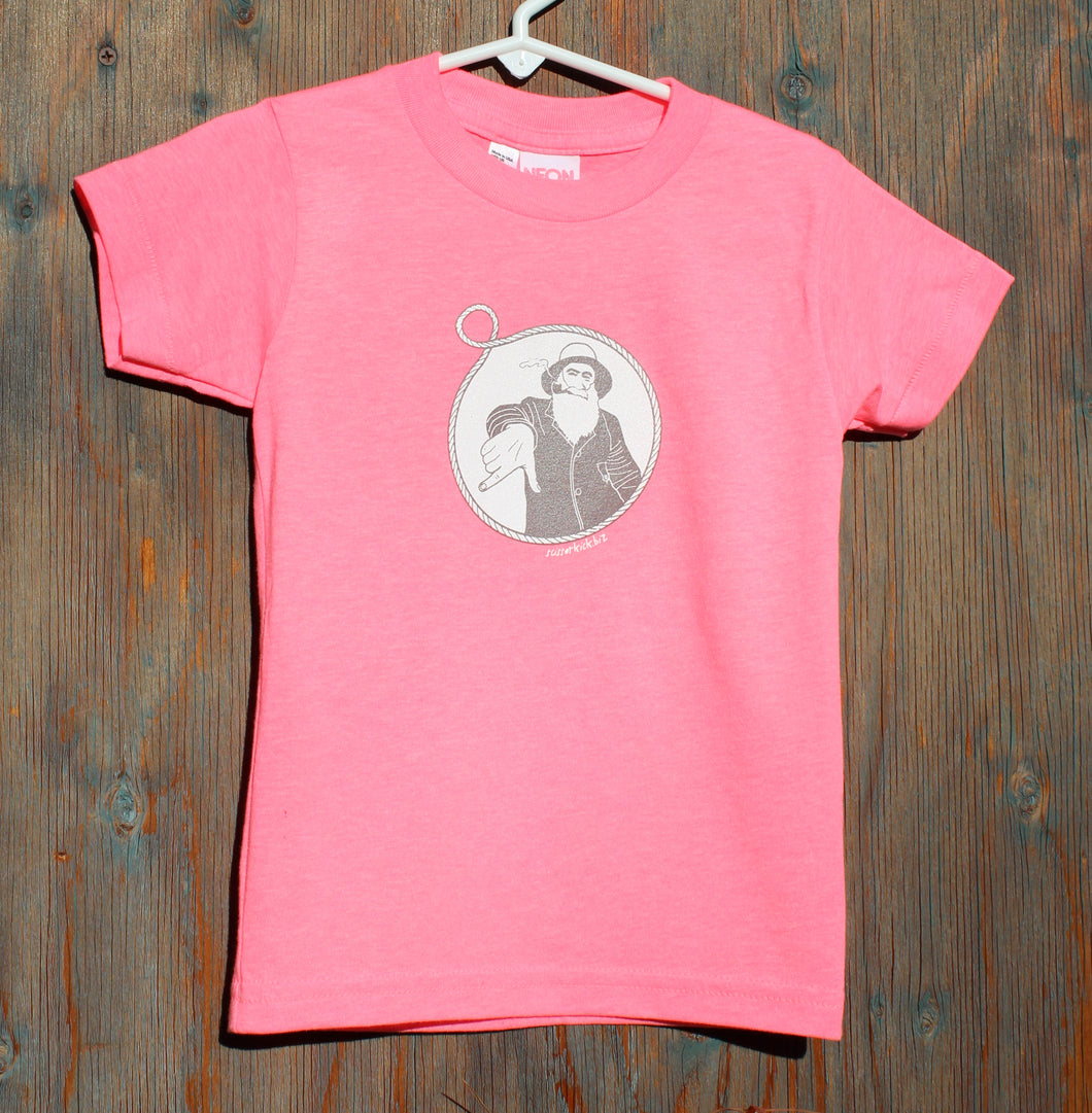 Toddler Neon Pink Captain Doug Tee