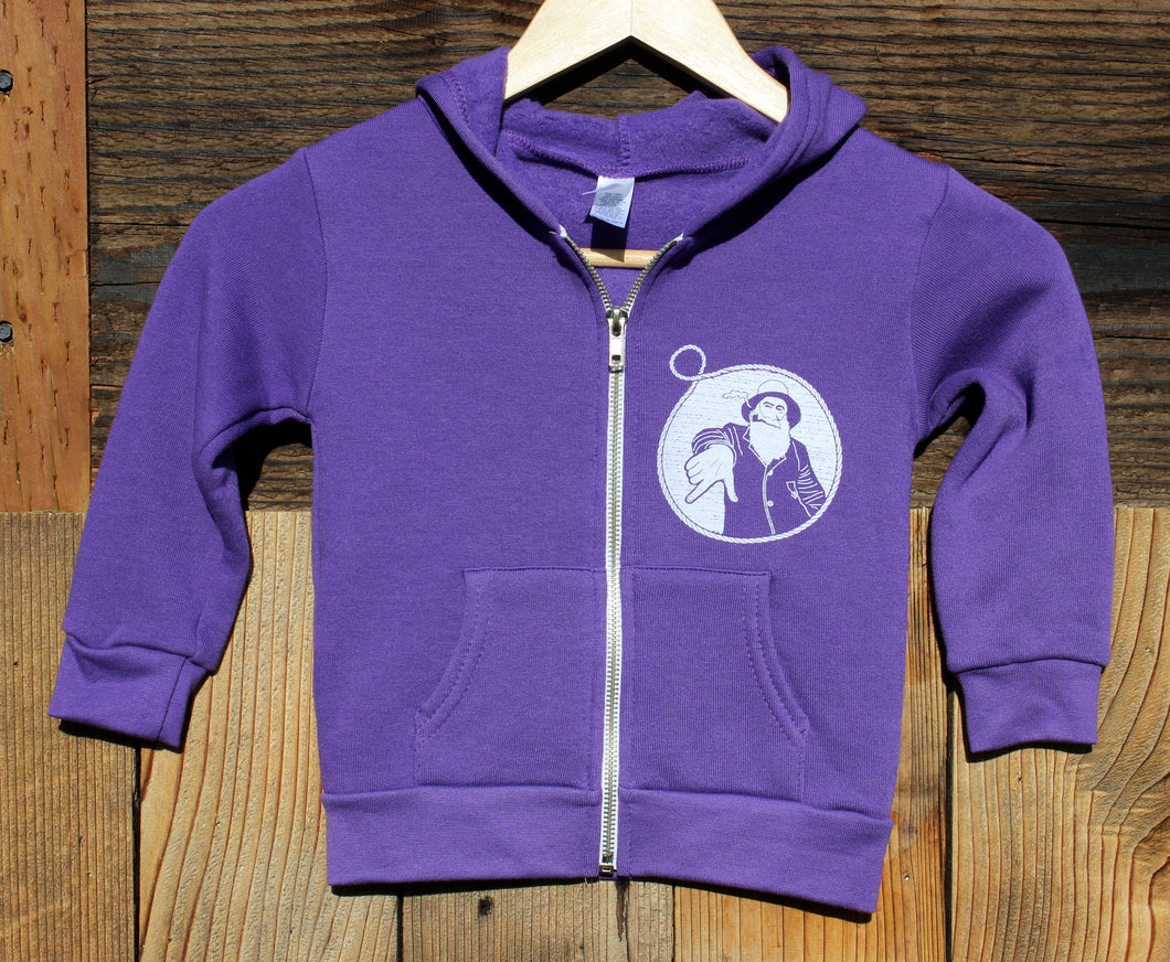 Toddler Purple Captain Doug Zip-Up Hoodie