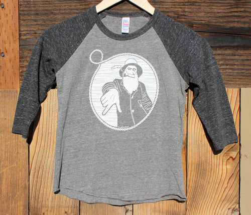 Youth Charcoal/Grey Captain Doug Baseball Tee