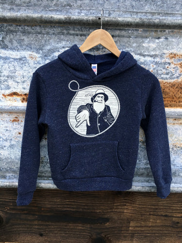 Youth Heather Navy Captain Doug Pullover Hoodie