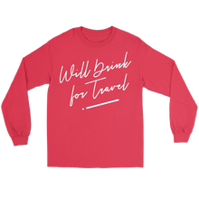 Unisex Long Sleeve Tee with White Cursive