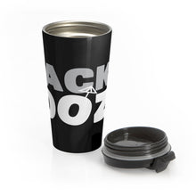 Black & Boozy Stainless Steel Travel Mug
