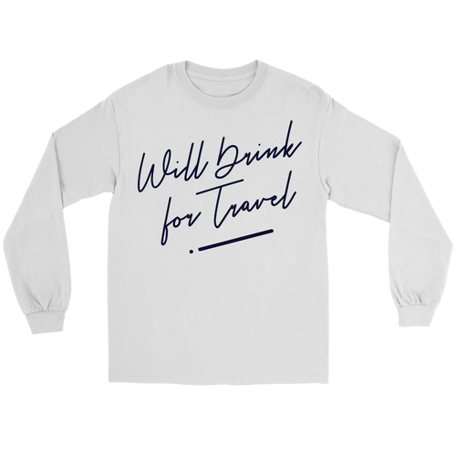 Unisex Long Sleeve Tee with Black Cursive