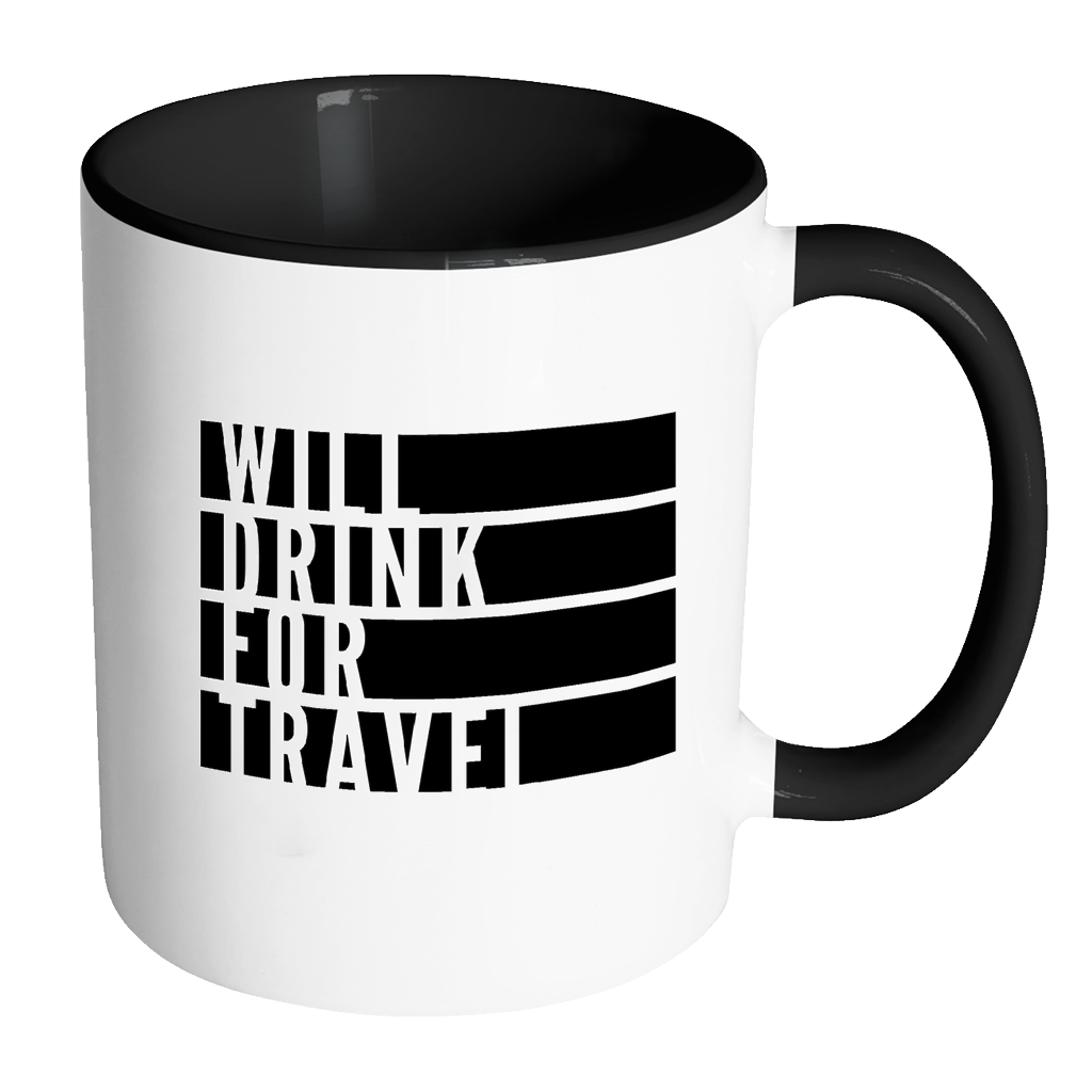 Will Drink For Travel Flag Mug