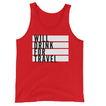 Men's Will Drink For Travel Flag Tank