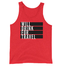 Men's Will Drink For Travel Flag Tank - White