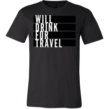 Men's Will Drink For Travel Flag Tee - White