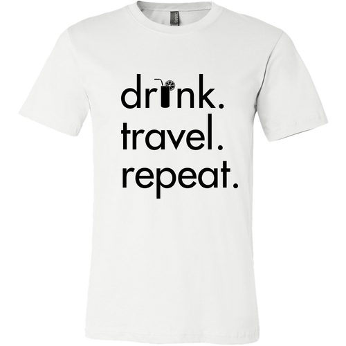 Men's Drink Travel Repeat Tee - White