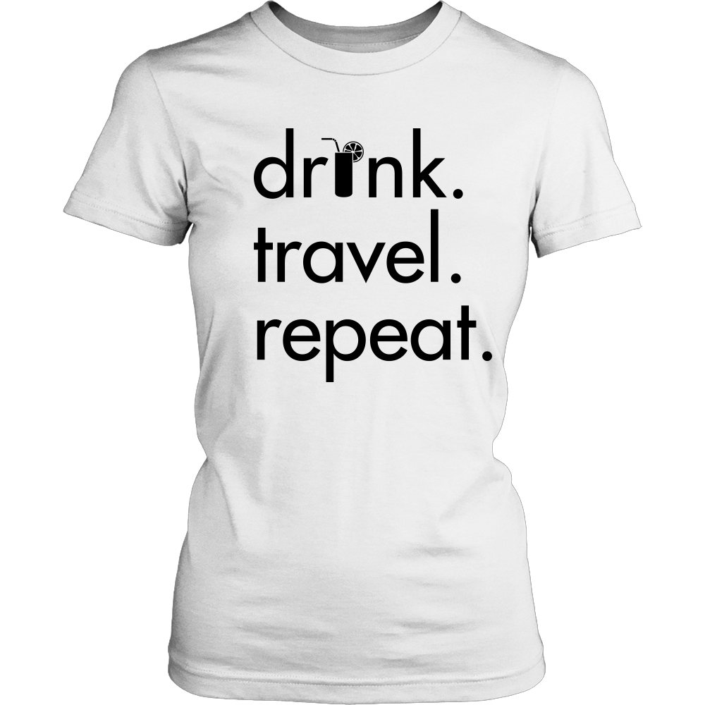 Women's Drink Travel Repeat Tee - White