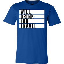 Men's Will Drink For Travel Flag Tee