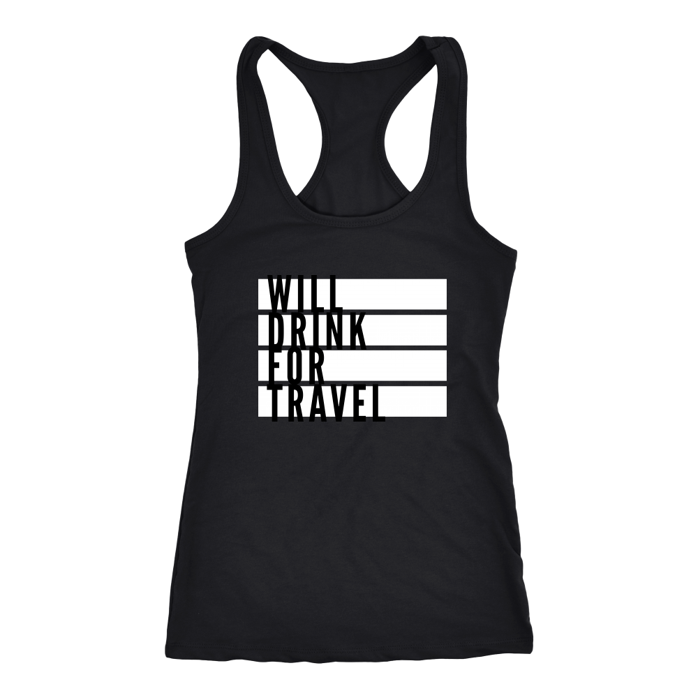 Women's Will Drink For Travel Flag Tank