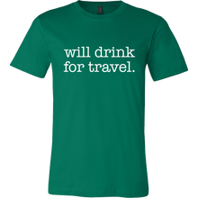 Men's Will Drink For Travel Simple Tee