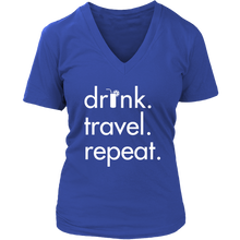 Drink Travel Repeat V-Neck