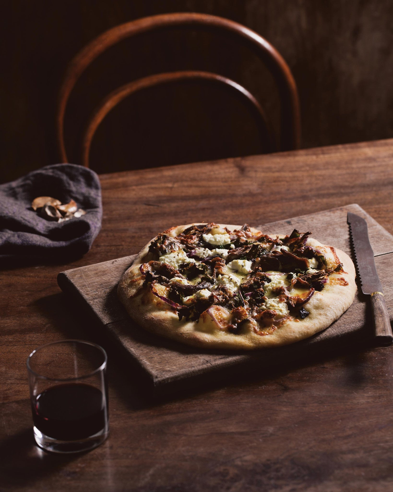 lamb shoulder pizza