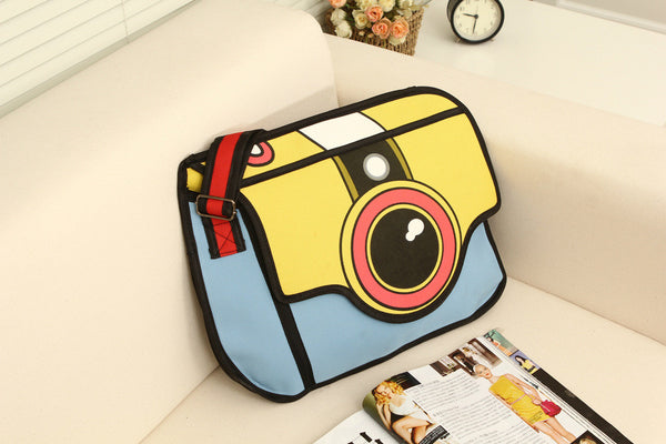 Real Cool 2D Cartoon Camera Handbag (Multi colors)