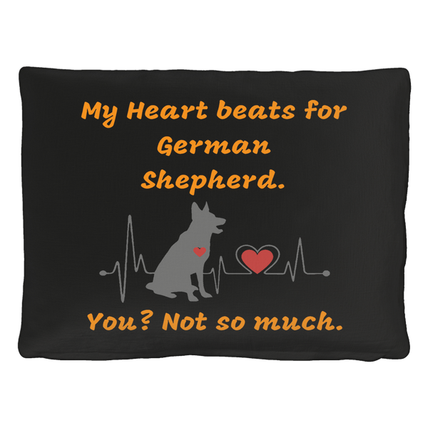 """My Heart Beats for German Shepherd"" Charming Bed for Pet"