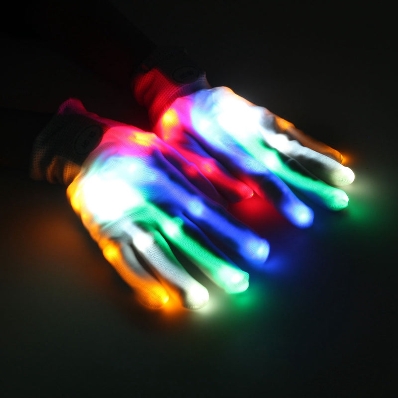 FREE Color Changing Flashing Skeleton Gloves for Halloween, NightClubs & Parties