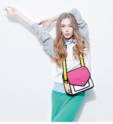 Amazing 2D Fashion Shoulder Bag (Multi colors)