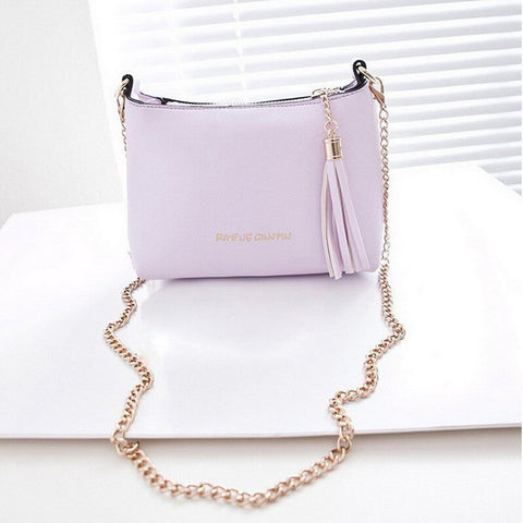Fancy Women Leather Sling Bag with Tassel (Multi colors)