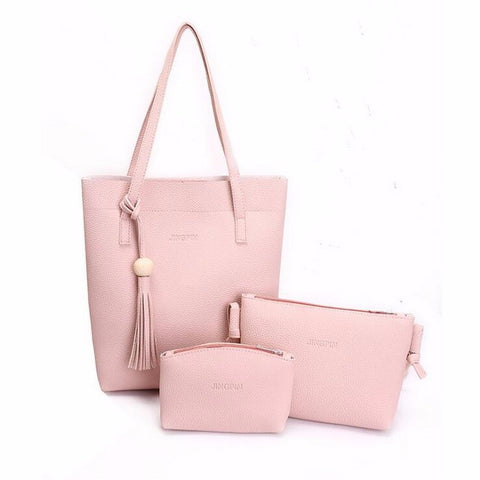 Stylish Women Leather Shoulder Bag, Hand Bag & Purse (3 pcs) 3 for 1 Price!