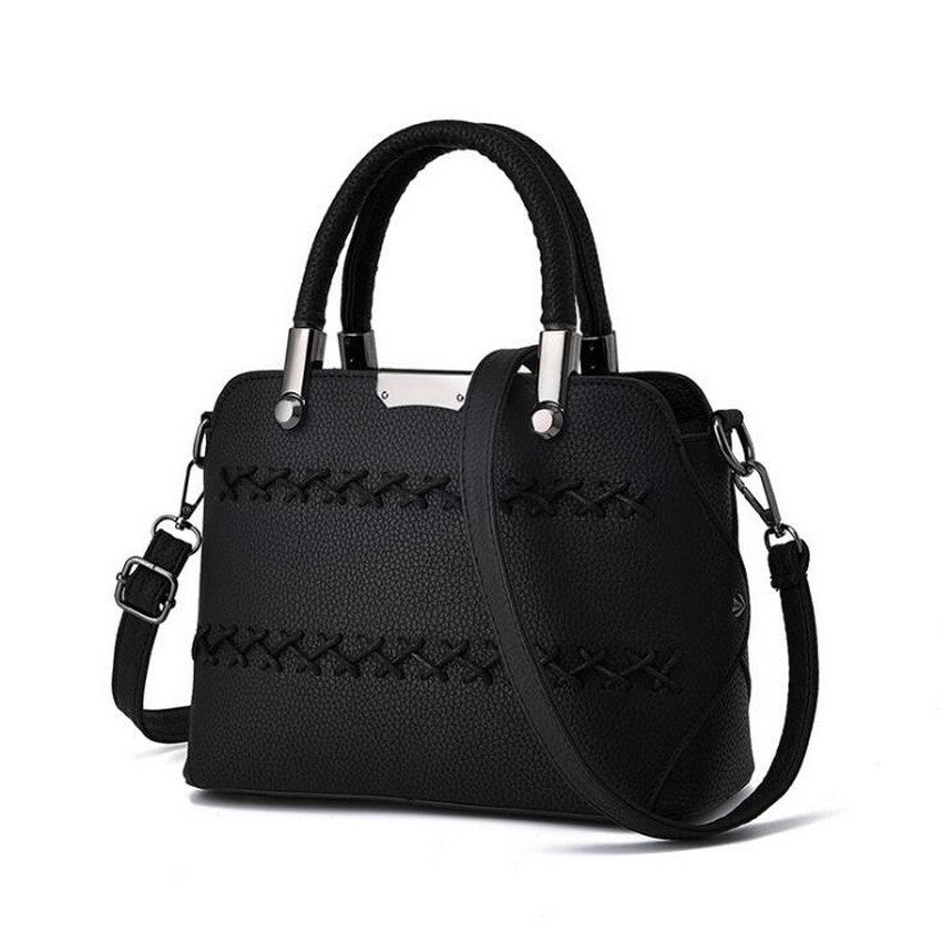 9d701b71690 Trending Korea Fashion Women Leather Top-handle Handbags   Sling Bags ...