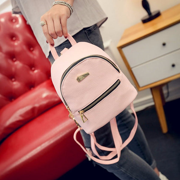 Cool Women Leather Backpack / School Bag (Multi colors)