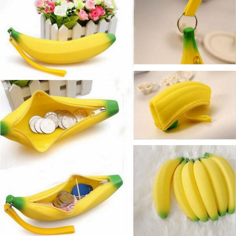 Super Cute Banana-shaped Pen & Pencil Stationery Case / Coin & Money Pouch