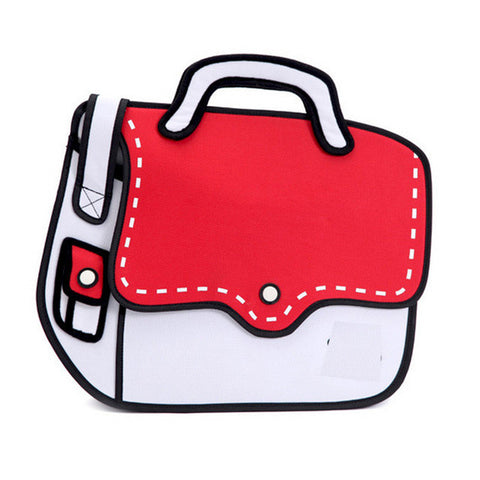 Colorful 2D Satchel Bag / Shoulder Bag (Multi colors)