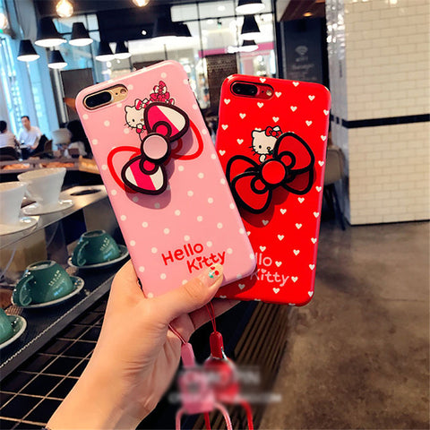 Hello Kitty Fidget Spinner Phone Case for iPhone 6, 6S, 6 Plus, 6S Plus, 7 & 7plus