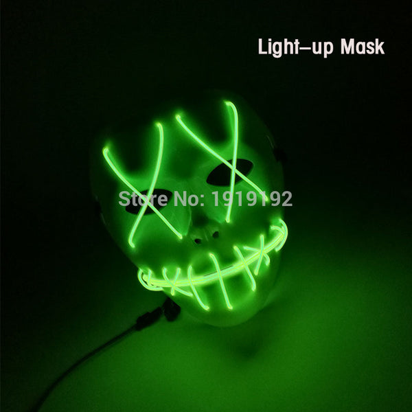 Super Cool Light-up Party Mask Costume for Halloween, Festivals, Nightlife & Events (27 Designs)