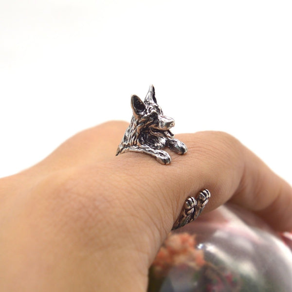 German Shepherd Adjustable Ring Fashion Accessory