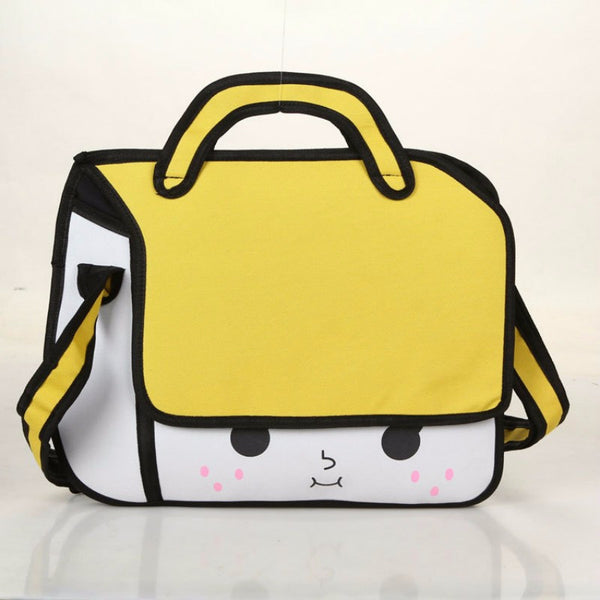 Chic 2D Cartoon Handbag / Messenger Bag (Multi colors)