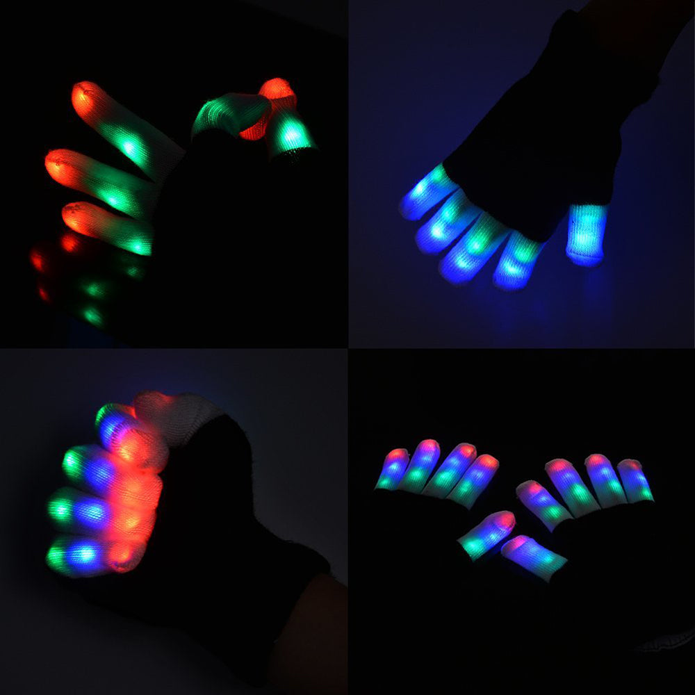Beautiful Luminous 7 Mode Flashing Gloves for Parties, Halloween & Clubbing