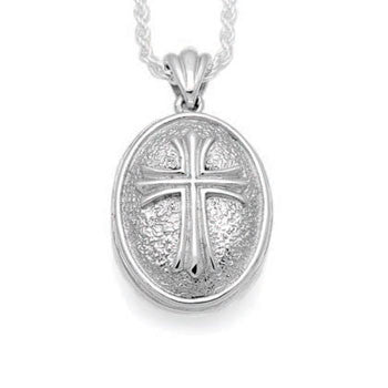 Oval Spanish Cross - Forever Near Memorial Jewellery