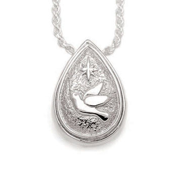Tear Drop Dove & Star - Forever Near Memorial Jewellery