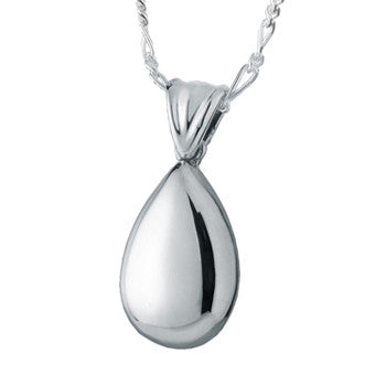 Small Tear Drop High Polish - Forever Near Memorial Jewellery