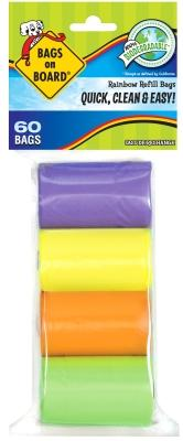 Bags On Board Refill Rainbow 60 CT