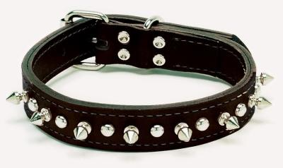"1708K 1"" Spiked Leather Collar"
