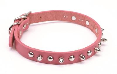 "1703K 3/8"" Spiked Leather Collar"