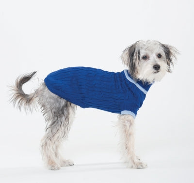 Classic Cable Sweater Cobalt