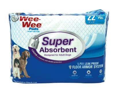Wee Wee Pads Super Absorbent 22CT