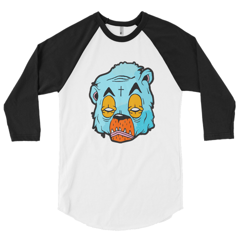 Trap Bear 3/4 sleeve raglan shirt