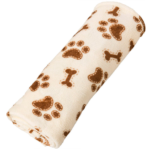 Snuggler Blanket Bones & Paws Cream 30x40""