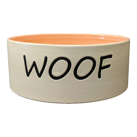 WOOF DISH CORAL 7""